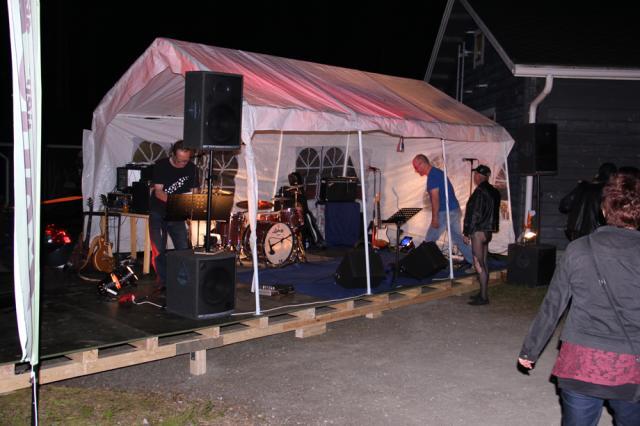 Тусовка финских байкеров. Ночная дискотека.