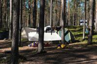 Август. Фристайл-сессия в Финляндии(Лиекса). Лагерь. Солнечное утро.