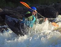 Август. Родео-сборы в Финляндии( Лиекса ), 2011г. Папа нашего спортсмена из детской группы пробует воду.