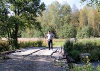 Мост через речку в отличном состоянии