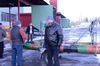 Поездка  за каяками в Финляндию. Погрузка каяков.