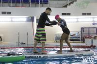 тренировки по SUP в бассейне ДФК ПГУПС