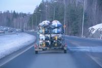 Поездка  за каяками в Финляндию. Возвращаемся домой