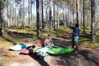 Август. Фристайл-сессия в Финляндии(Лиекса). Подготовка лодочек.