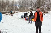 Открытие сезона. Тренировки на р. Мга.  На поляне у реки.