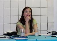 Катя - секретарь соревнований.
