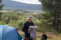 Ежегодный выезд в Норвегию, 2012г. Андрей на фоне долины р.Grimsa
