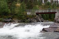 Ежегодный выезд в Норвегию, 2012г.Одна из ступеней препятствия 5й кат.сложности( по описанию) на Grimsa