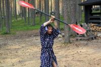 Июльские РОДЕО-СБОРЫ в Финляндии(Лиекса).Небольшая разминка перед вечерней тренировкой в японском стиле.