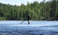 Июльские РОДЕО-СБОРЫ в Финляндии(Лиекса). Национальная финская забава - сплав на бревне.