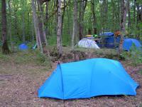 Утро в лагере.