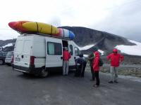 Выезд в Норвегию, 2013. Большая группа атлетов решила покорить самую высокую гору Норвегии.