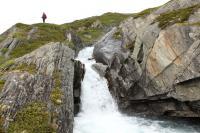 Выезд в Норвегию, 2013. Обозревая окрестности вокруг лагеря на р. Бовра
