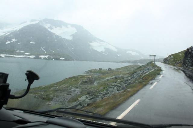 Выезд в Норвегию, 2013. Дорога через перевал.