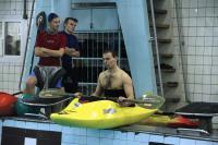 """ГК """"Каякер"""". Клубное первенство по фристайлу на гладкой воде. Готовится к выступлению Григорий Ергин."""