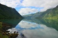 Выезд в Норвегию, 2013. На фьорде. Утро. Погода улучшилась.