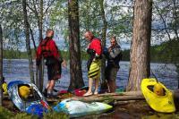 2-й этап кубка North Karelia freestyle paddling cup 2012. В ожидании начала соревнований.