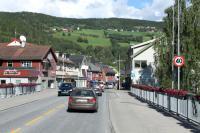 Выезд в Норвегию, 2013. Городок по дороге.