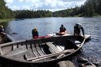 РОДЕО-СБОРЫ в Августе 2013, Финляндия(Лиекса). Виталик зашвартовал рыболовный баркас.