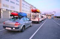 Выезд в Норвегию, 2013. Обратная дорога. В очереди на паром.
