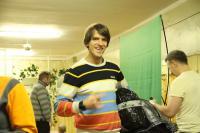 Открытый Чемп. СПб по фристайлу на гладкой воде 2013. А вот и Володя с мешком подарков.