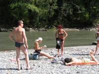 Перед тренировкой обязательные солнечные ванны.