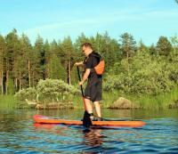 Июльские родео-сборы, Финляндия(Лиекса). SUP - хорошая тренировка на все группы мышц.