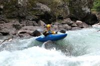 Осенний Кавказ 2013, учебно-тренировочный выезд. Гранитный каньон верхняя секция.  И вот так можно попробовать))))