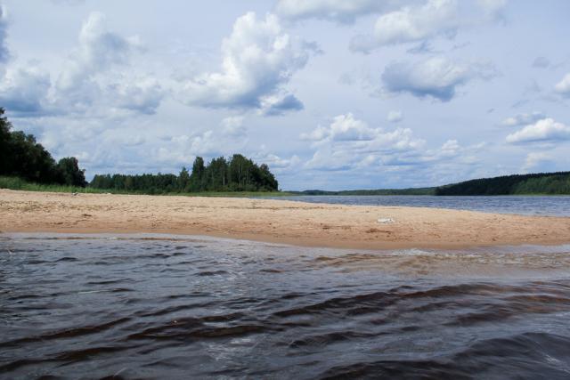 Песчаные пляжи на Вуокса-Вирта